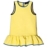 Girls' Yellow Cloque Ruffle Dress  ($28)