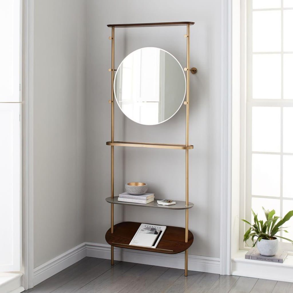 West Elm Modern Entryway Mirror and Coat Rack ($599)