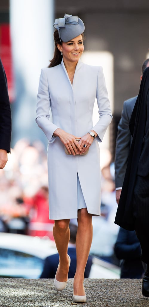 Kate Middleton in Pale Blue on Easter