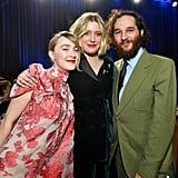 سيرشا رونان، وغريتا جيرفيغ، وجوش سافدي في حفل توزيع جوائز اختيار النقاد لعام 2020