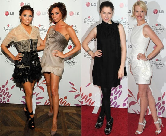 Pictures of Victoria Beckham and Eva Longoria at LG Launch with Jessica Simpson, Selma Blair, January Jones, Vanessa Hudgens