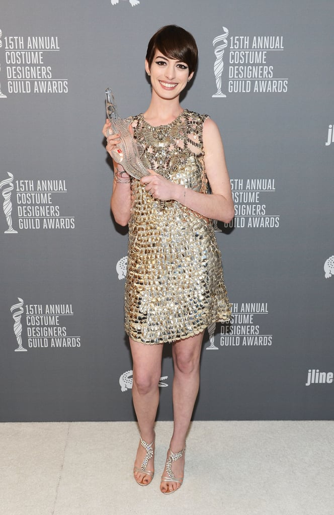 Anne Hathaway Gets Honoured by Costume Designers Ahead of the Oscars