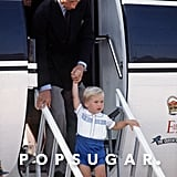 Prince William's Outfit at Aberdeen Airport in 1984