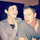 Once Upon a Time costars Ginnifer Goodwin and Josh Dallas posed for the camera. Source: Instagram user therealwhitney