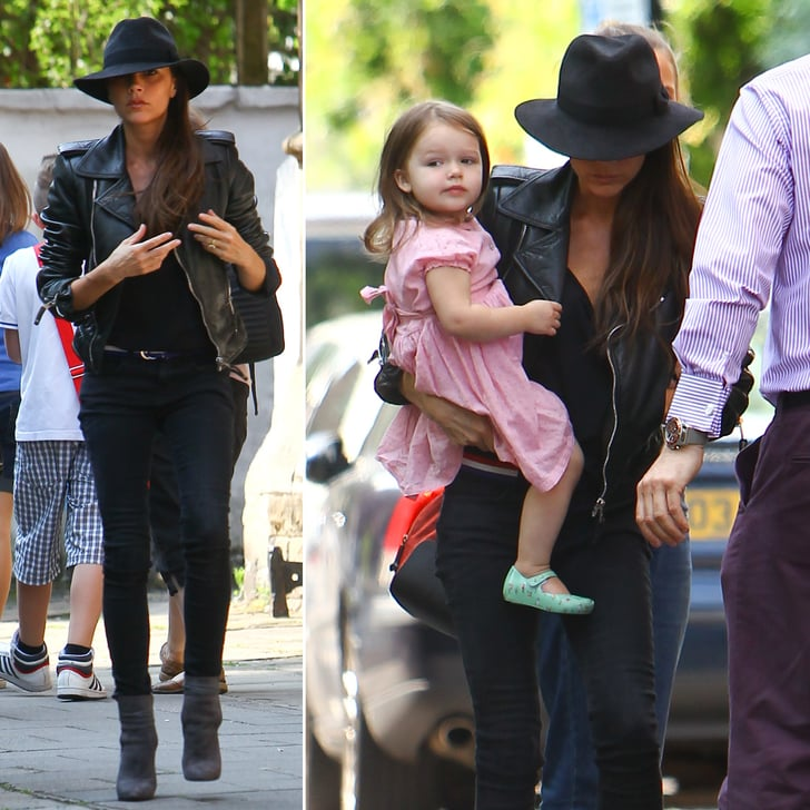 Victoria Beckham Holds Onto Harper Following a Very Special Day