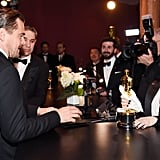 Leo Watched His Oscar Get Engraved