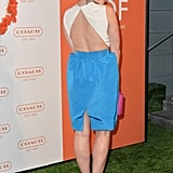From the back, Sophia Bush's dress showed off a sexy amount of skin.