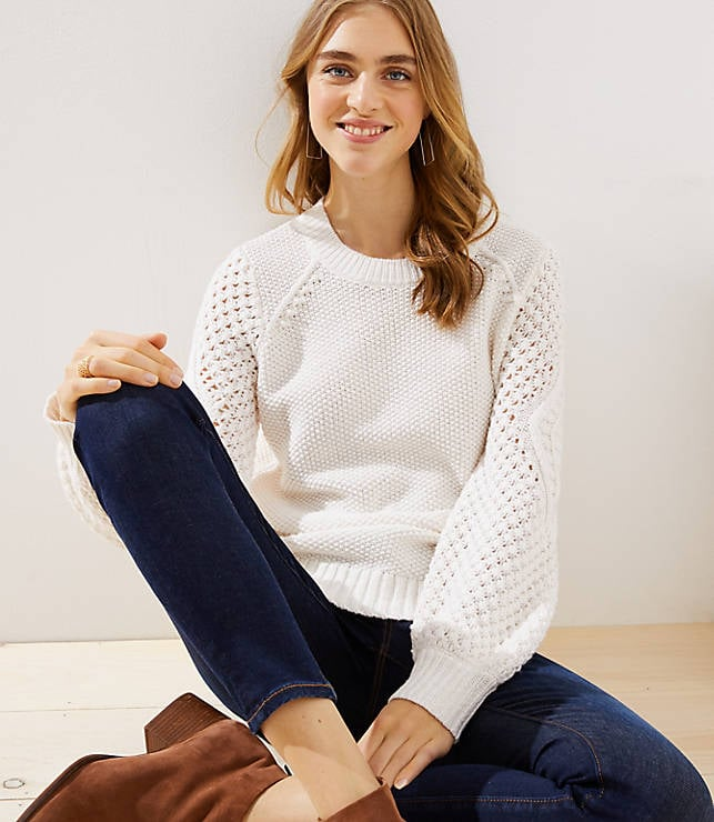 Stitched Sleeve Sweater