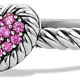 David Yurman Hearts Chatelaine Pink Sapphire Ring ($395)