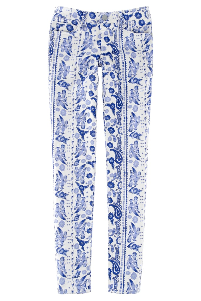 The blue-and-white bandana print on these Bleecker skinny jeans ($128) offers a pattern play that's still easy to work into your wardrobe. Photo courtesy of Rebecca Minkoff