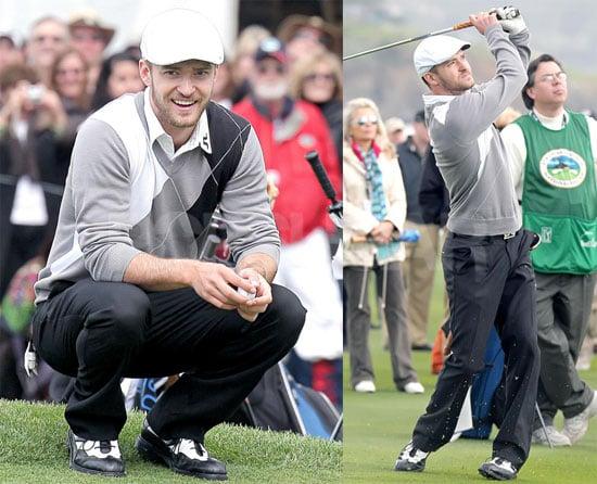 Justin Timberlake Tees Off