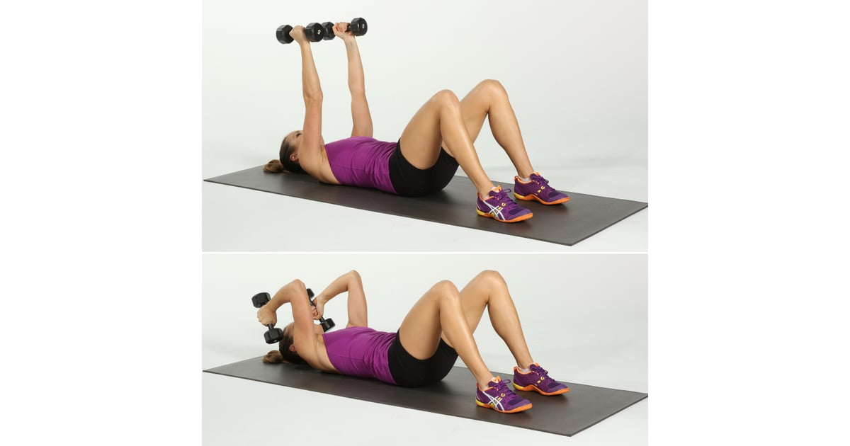 Skull Crushers Best Arm Exercises For Women Popsugar
