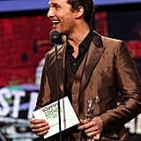 Matthew McConaughey at the Spirit Awards 2014