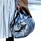 We love the metallic icy hue on this 3.1 Phillip Lim bag.