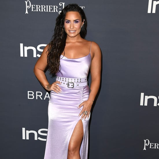 Demi Lovato Purple Alice and Olivia Dress at InStyle Awards