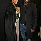 Sabrina Dhowre and Idris Elba at the Roland Mouret Show