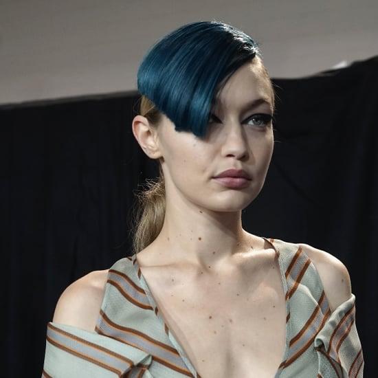 Blue Mermaid Bangs at Fendi | Fashion Month Spring 2018