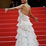 Bella Hadid's White Dior Gown at Cannes 2019