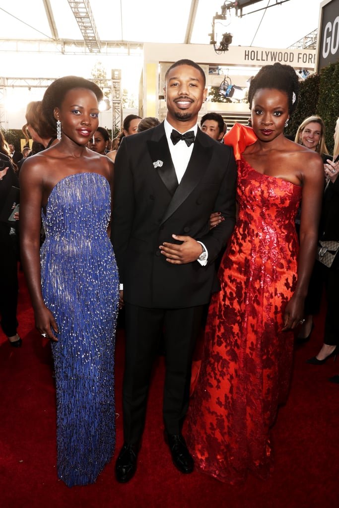 Pictured: Lupita Nyong'o, Michael B. Jordan, and Danai Gurira