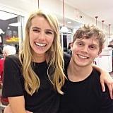 Emma Roberts and Evan Peters got cute at In-N-Out Burger.