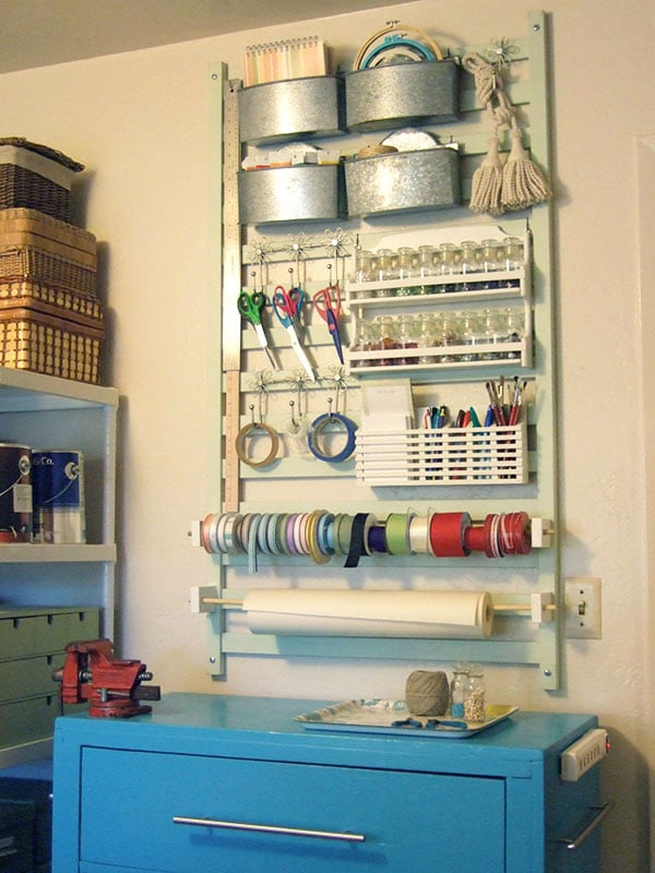 Upcycle Your Crib Into a Craft Station