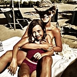 Julianne Hough hung out in the sun with a young pal.  Source: Instagram user juleshough