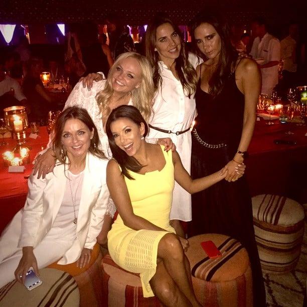 Spice Girls Reunite At David Beckhham's 40th Birthday Party