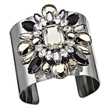 And the warrior wore rhinestones. A wide cuff ($310) with lots of glimmer is sure to grab attention.