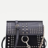 Shein Black Studded Flap Crossbody Bag