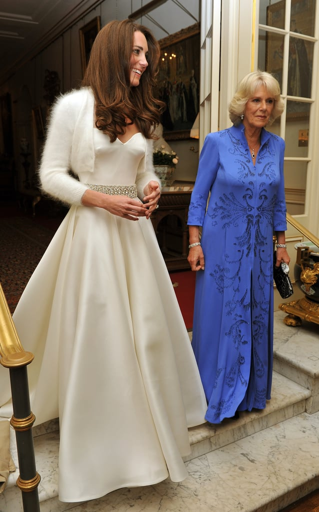 Kate middletons wedding reception dress by alexander mcqueen kate middletons wedding reception dress by alexander mcqueen junglespirit Images