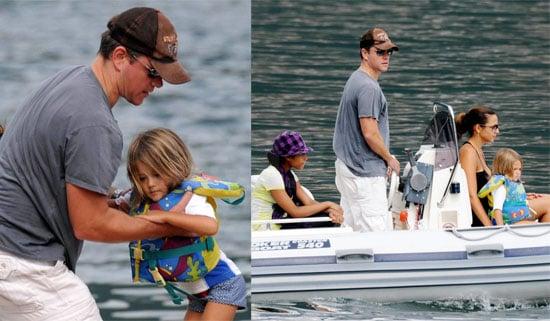 Photos of Matt Damon and His Family in Lake Como