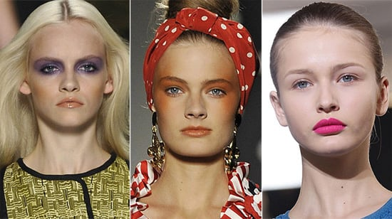 Beauty Trends From 2011 Spring Milan Fashion Week: 1970s, Flyways, Head Gear, Neon Brights and More!