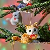 Assorted Furry Cat Christmas Ornament