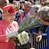 The queen was visiting the West Midlands as part of her Diamond Jubilee tour.