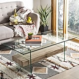 Safavieh Home Collection Kayley Natural Glass Coffee Table