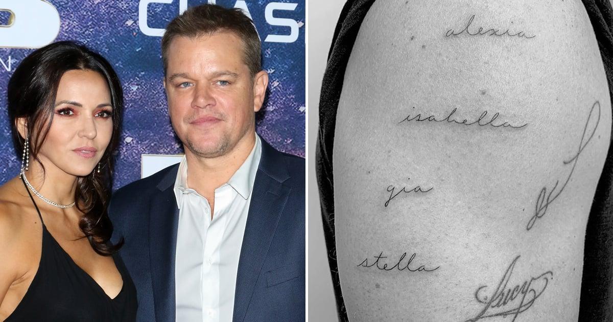 Matt Damon's Tattoos F...