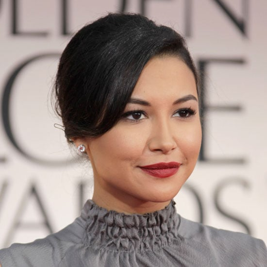 Naya Rivera's Bright Berry Lip Colour