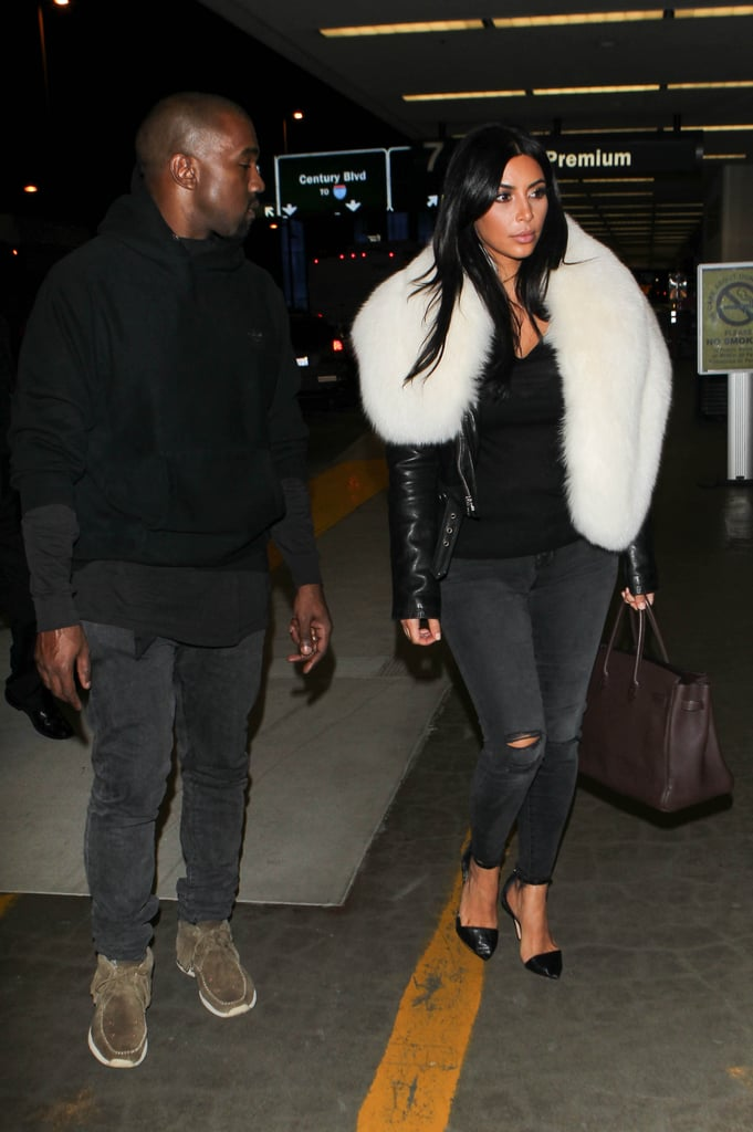 Kim Showed Off Her Casual Travel Style