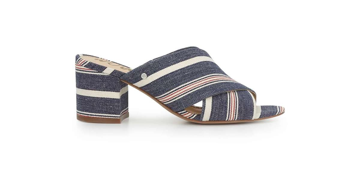 01de7bb8ebf These striped Sam Edelman Stanley Mule Sandals ( 100) feature a block