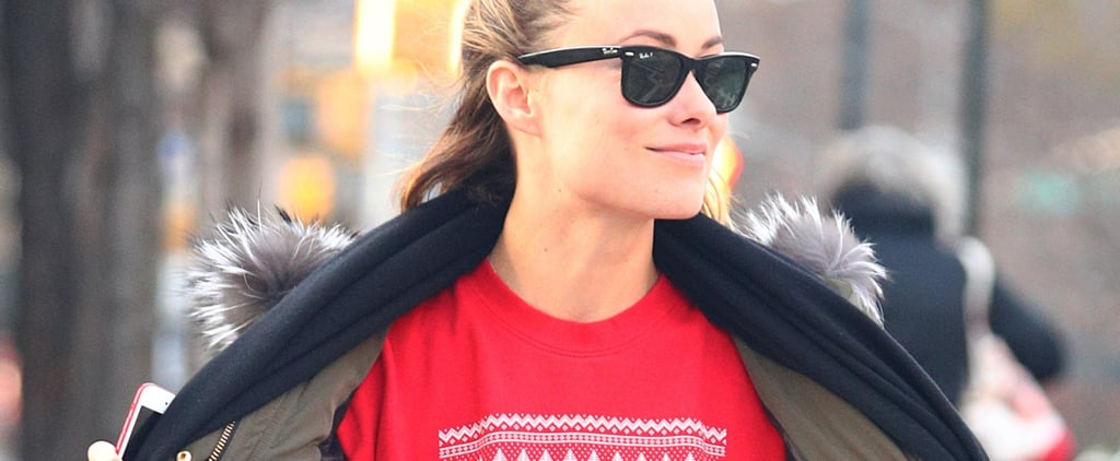 Olivia Wilde's Statement-Making Holiday Sweater Isn't Just Cute — It's a Damn MOOD