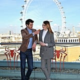 Andrew tried to feed Emma in London in April 2014.