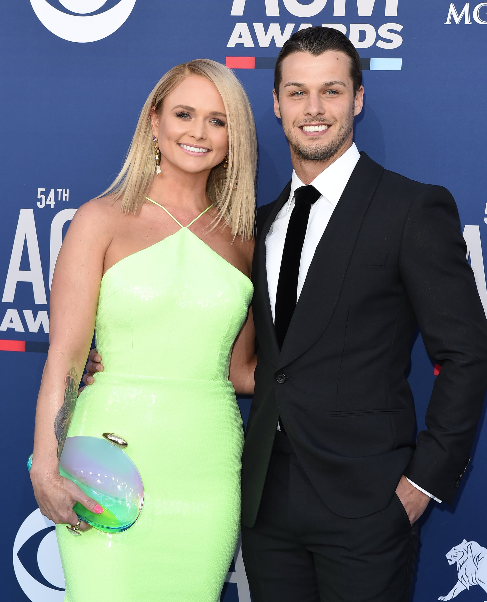 LAS VEGAS, NEVADA - APRIL 07: Miranda Lambert and Brendan McLoughlin attend the 54th Academy of Country Music Awards at MGM Grand Garden Arena on April 07, 2019 in Las Vegas, Nevada. (Photo by Axelle/Bauer-Griffin/FilmMagic)