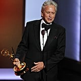 Michael Douglas accepted the award for his role in Behind the Candelabra, thanking his co-star Matt Damon.