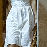 Pippa Middleton was ready for hot temperatures in a white dress.