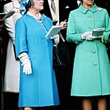 Queen Elizabeth II and her mother watched the festivities in the 1970s.