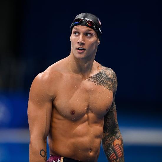 Watch Olympian Caeleb Dressel's Dog Race Him in the Pool