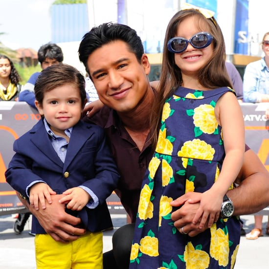 Gia and Mario Lopez on the Set of Elena of Avalor