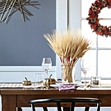 Color-Wrapped Wheat Centerpiece