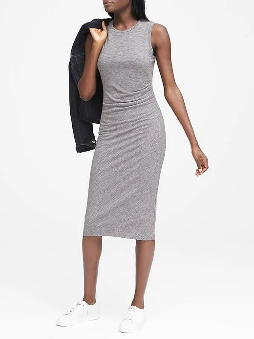 Cozy Knit Ruched-Side Sheath Dress
