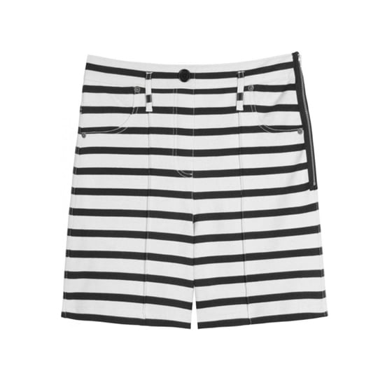 """Sonia by Sonia Rykiel Striped Shorts, $215   Pair with:   <iframe src=""""http://widget.shopstyle.com/widget?pid=uid5121-1693761-41&look=3445607&width=3&height=3&layouttype=0&border=0&footer=0"""" frameborder=""""0"""" height=""""244"""" scrolling=""""no"""" width=""""286""""></iframe>"""